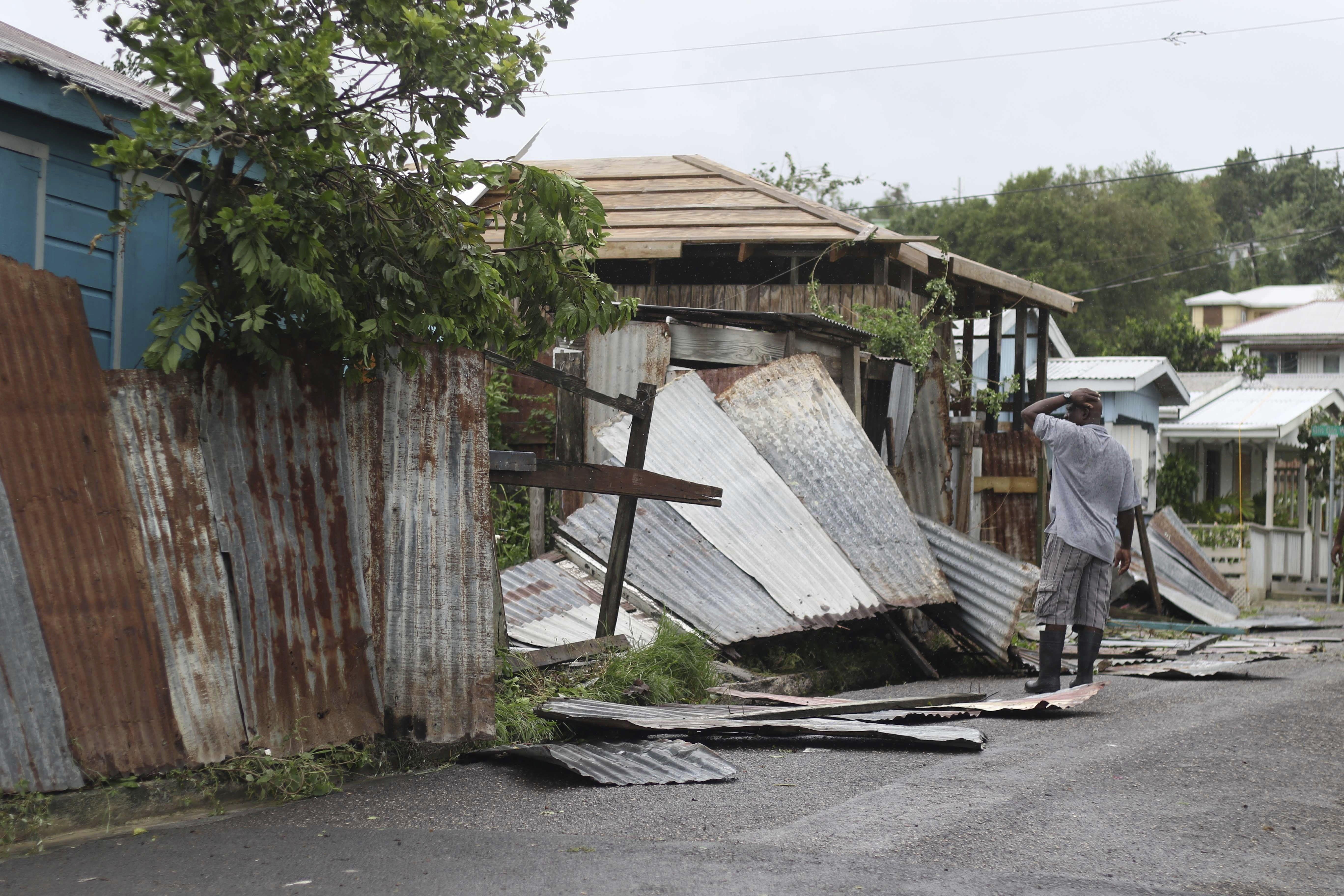 Hurricane Irma Devastated The Island Of Barbuda Caribbean Island Port Of Spain