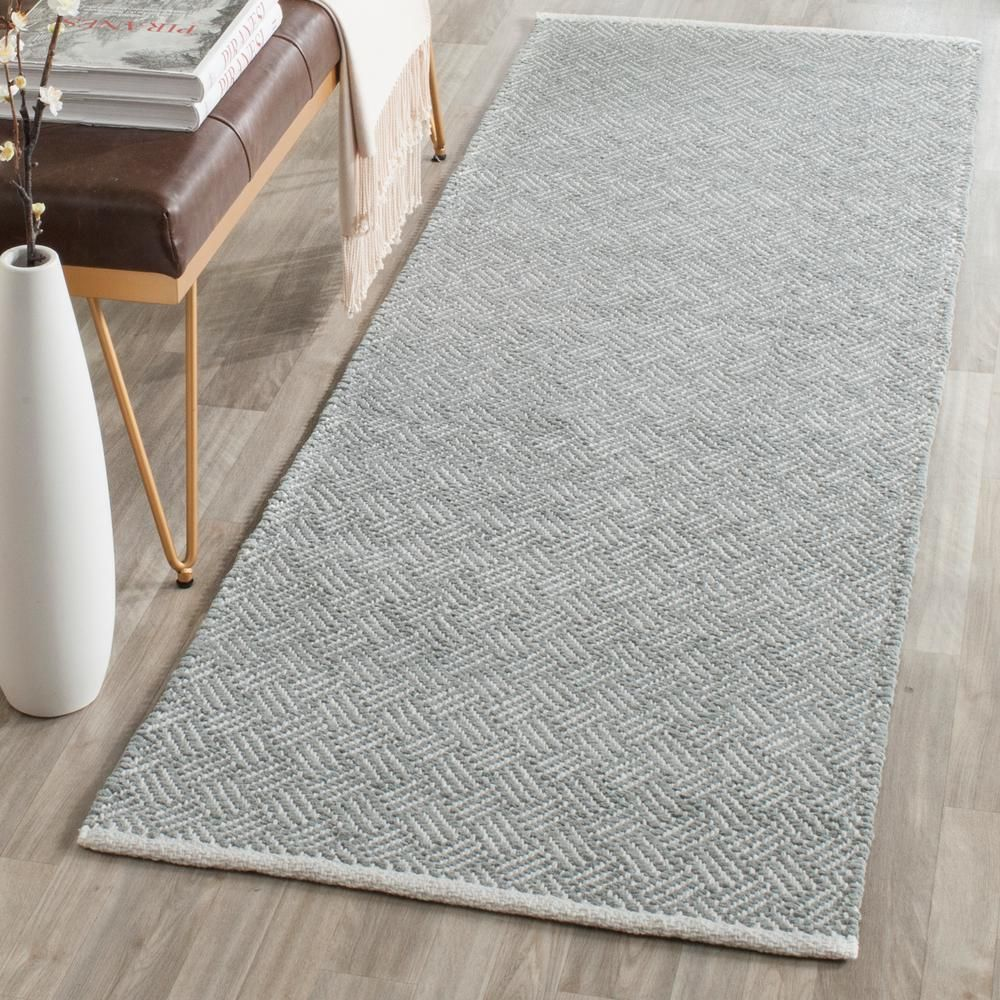 Safavieh Boston Gray 2 Ft X 11 Ft Runner Rug Bos680e 211 In 2020 Area Rugs Rugs Grey Area Rug