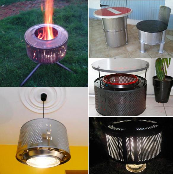 11 id es originales pour recycler un tambour de machine laver brico diy pinterest. Black Bedroom Furniture Sets. Home Design Ideas