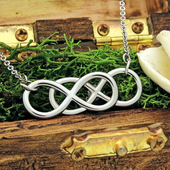 Infinity Necklace Double Infinity Symbol Necklace 18 By Artzo Gift