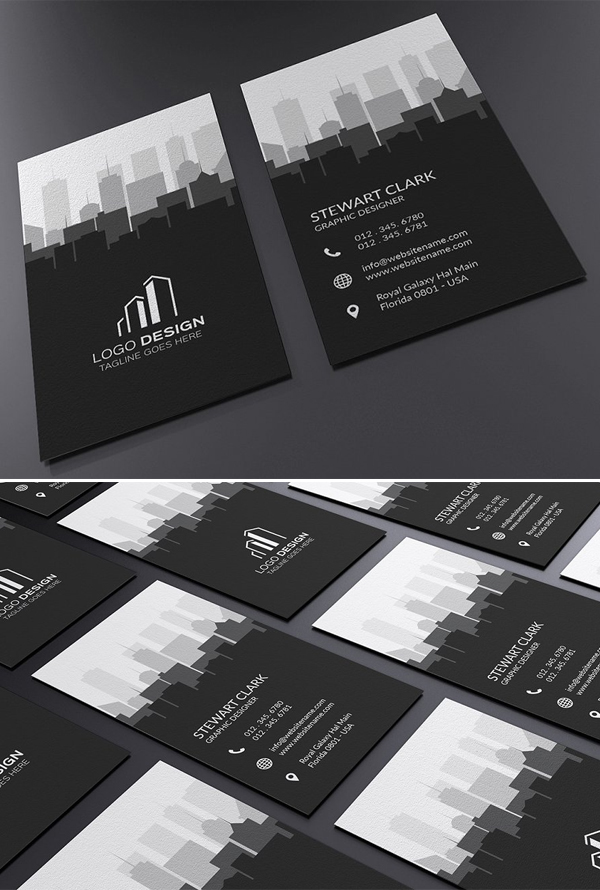Real Estate Business Card Template In 2020 Graphic Design Business Card Architecture Business Cards Business Card Template Design