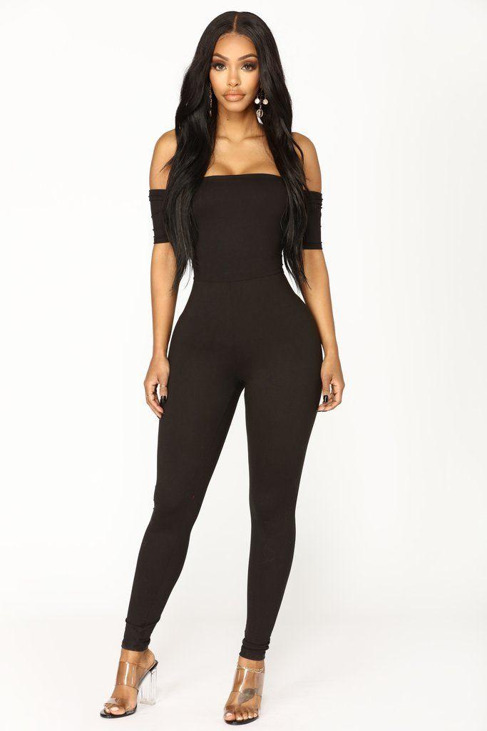 835316957d40f Forever Or Never Off Shoulder Jumpsuit - Black in 2019 | Fashion ...