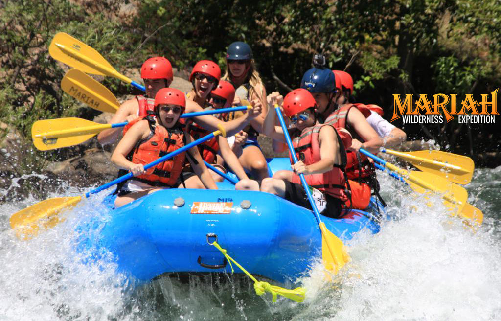 This is Mariah Wilderness Expeditions whitewater rafting trip in the Middle Fork of the American River in California.
