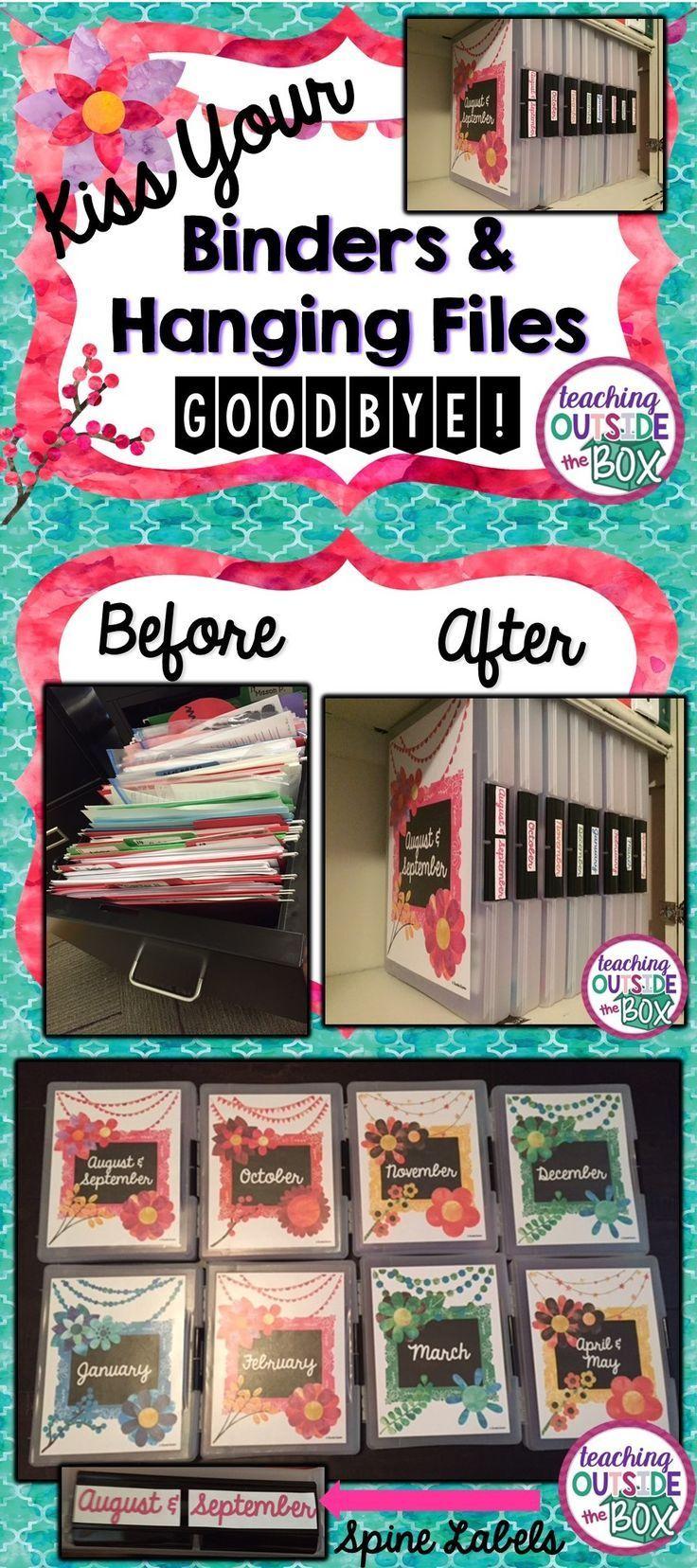 Kiss Your Binders And Hanging Files Goodbye Teacher Organization Classroom Organization Teaching Organization