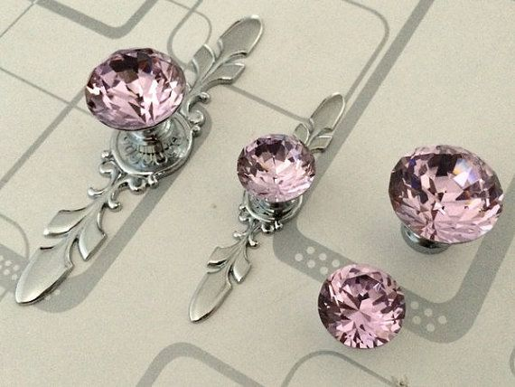 Cheap Crystal Locket, Buy Quality Blinged Out Directly From China Bling Usb  Suppliers: Pink Glass Dresser Knob Crystal Drawer Knobs Pulls Handle Silver  ...