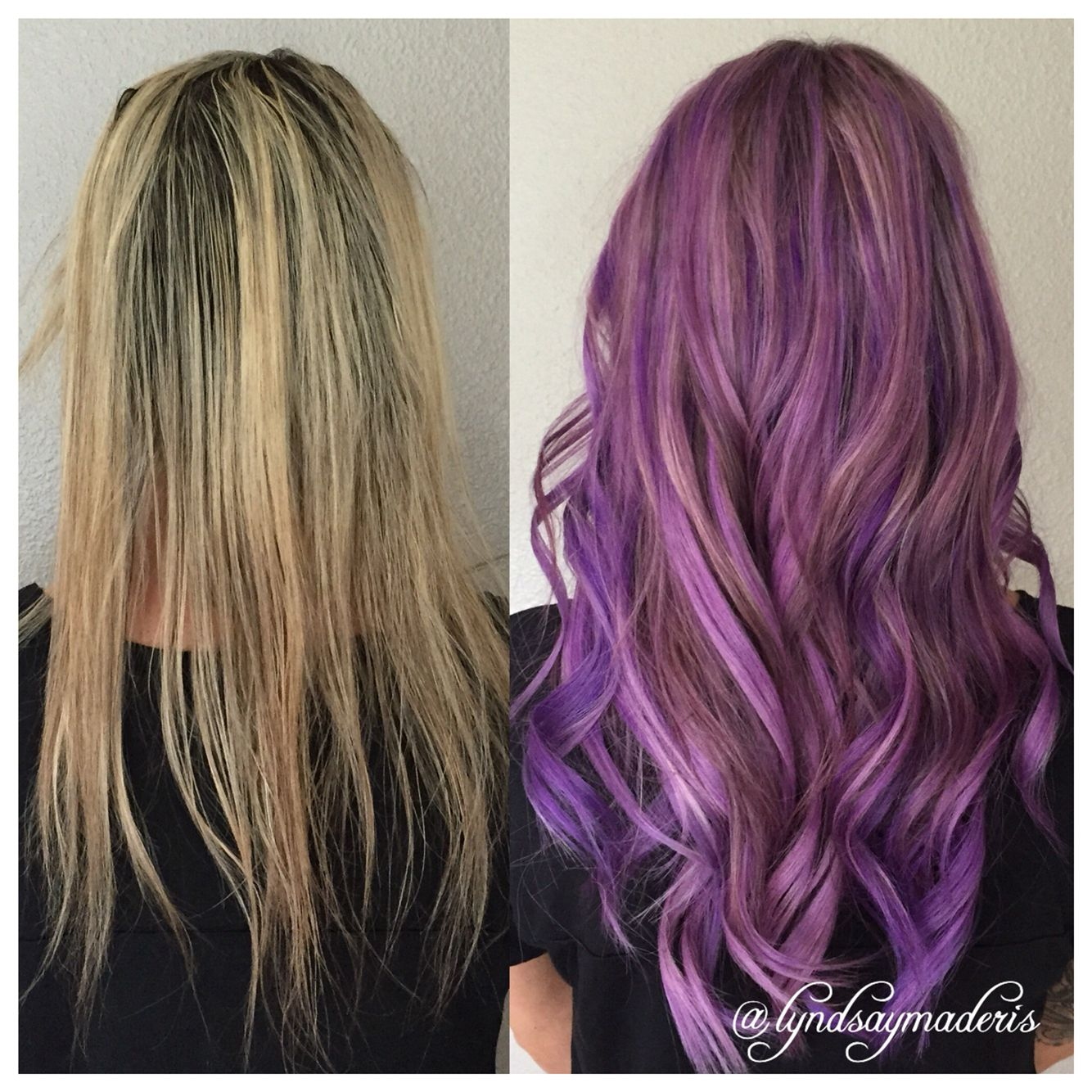 Lilac purple Hair color & Great Lengths hair extensions by ...