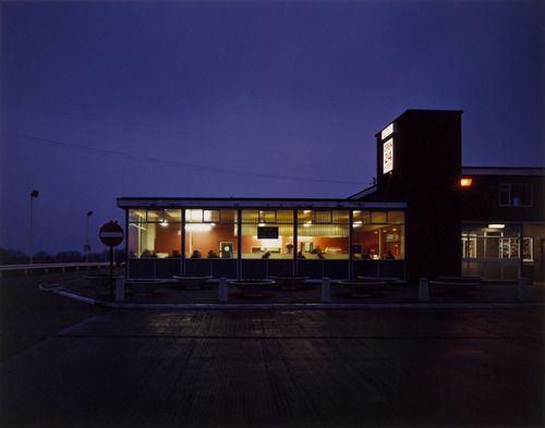 Paul Graham. Blyth Services at Night, Blyth, Nottinghamshire from the portfolio A1: The Great North Road. February 1981