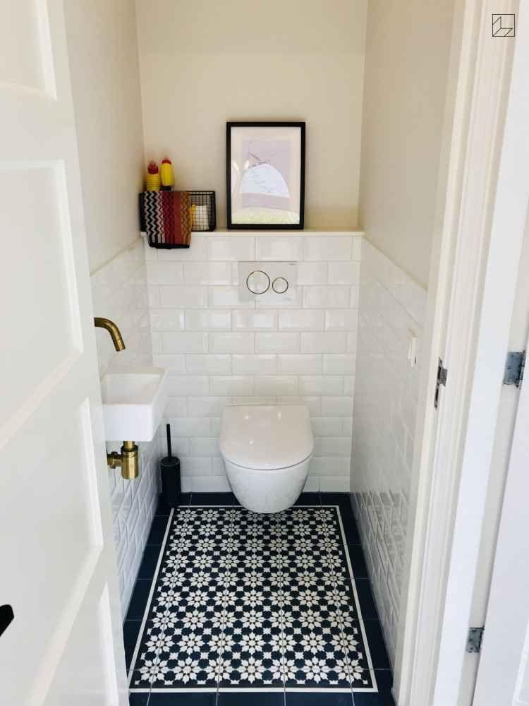 Photo of Gäste-WC's sind oft sehr klein. Doch jeden Raum, egal wie klein, kann man gut i…