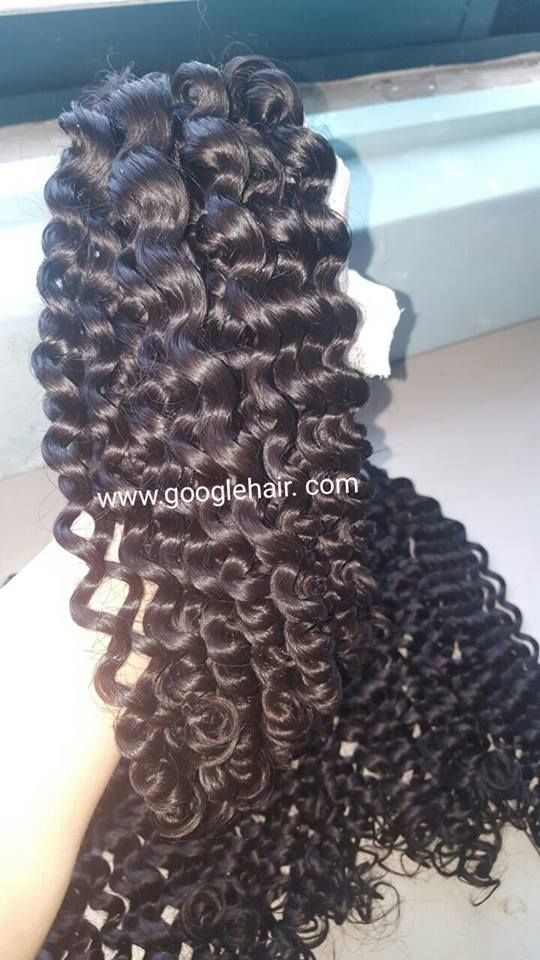 Vietnamese Hair Extensions With Natural Color Deep Curly Hair