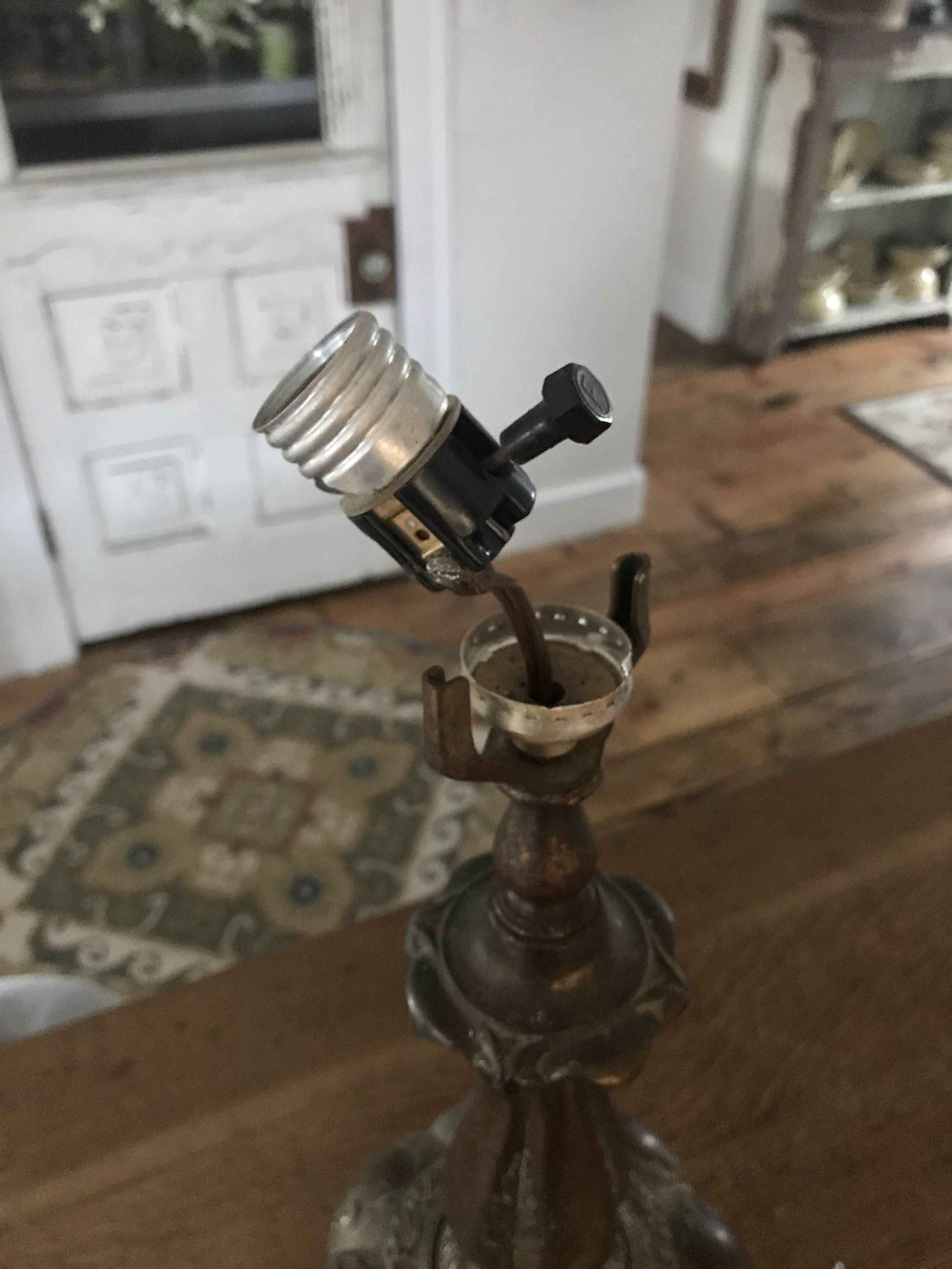 How To Make A Nightlight Out Of An Old Lamp House On Winchester Night Light Night Light Bulbs Lamp