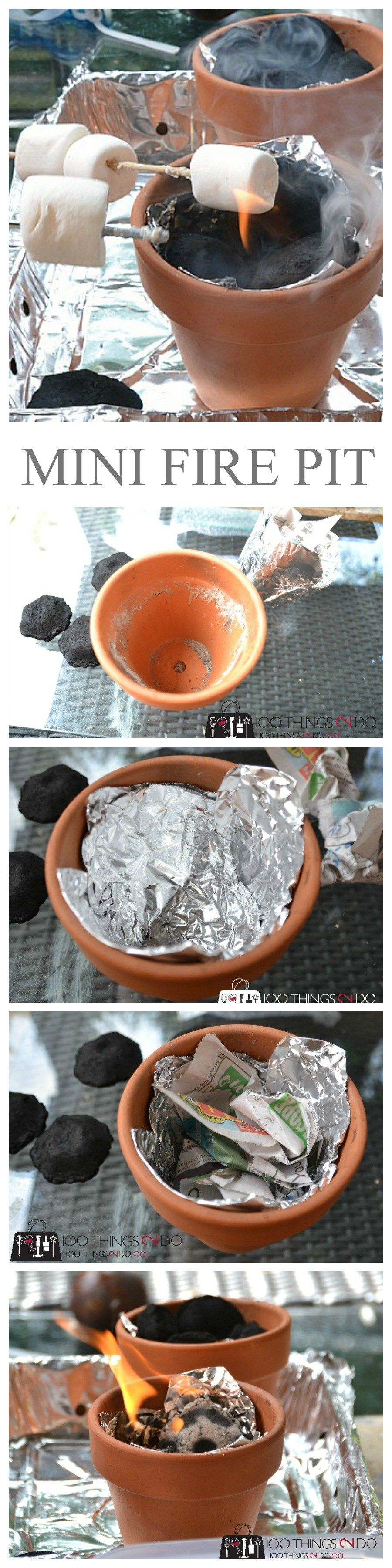 Personal (mini) Fire Pit 100 Things 2 Do Mini fire pit