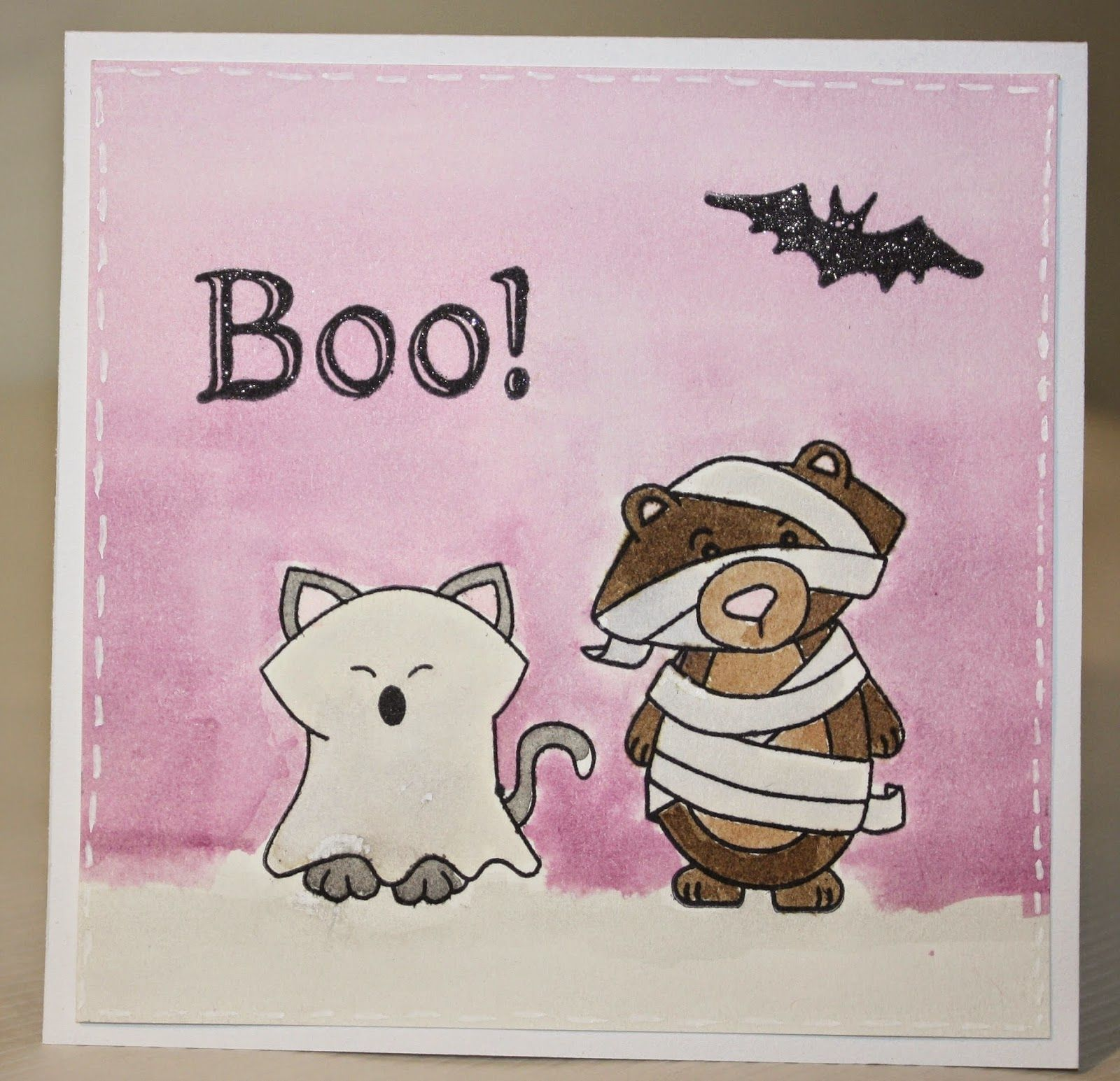 Craftyscrappyness Halloween Card Using Boo Crew Stamp Set By Newton's Nook  Designs!