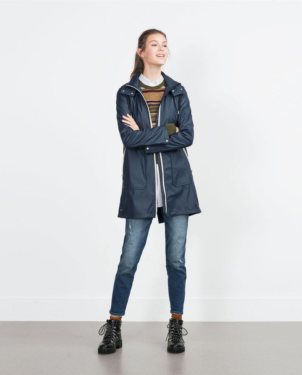 TrfZara In Navy States Raincoat Coats United 2019 ZiOPXuwkT