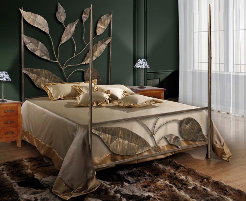 Camas de forja modelo hojas forja beltran tu tienda de decoraci n de interiores visita - Catalogo decoracion interiores ...