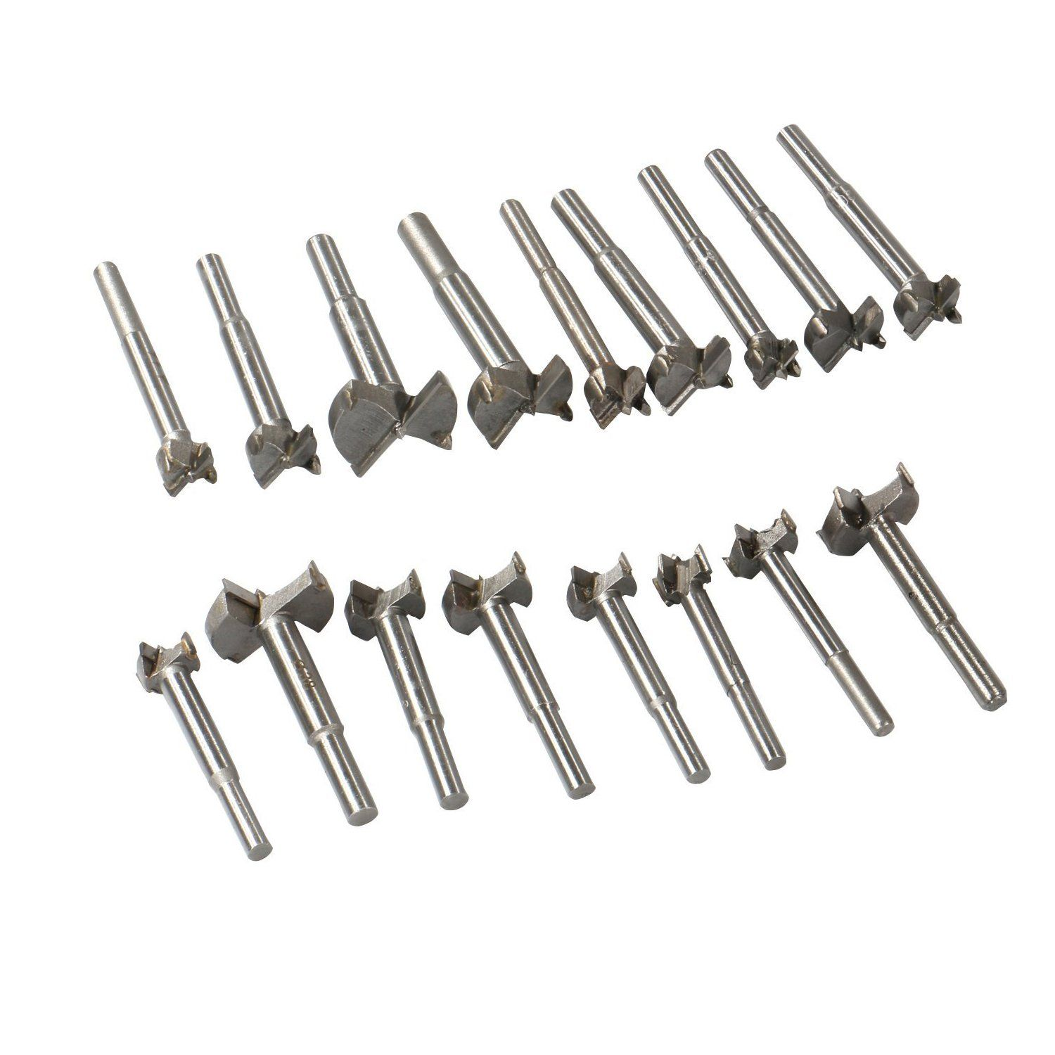Forstner Drill Bit Sets17pcs 15mm38mm Tungsten Steel Woodworking Hole Saw Set Round Shank Wood Auger Opener Boring Drilling Tools Woodworking Tools Woodworking