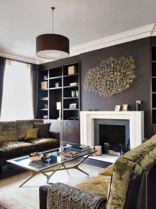 Marvelous Room · Simple Feature Wall Painting In Contemporary Living Room Design Ideas  3 Part 6