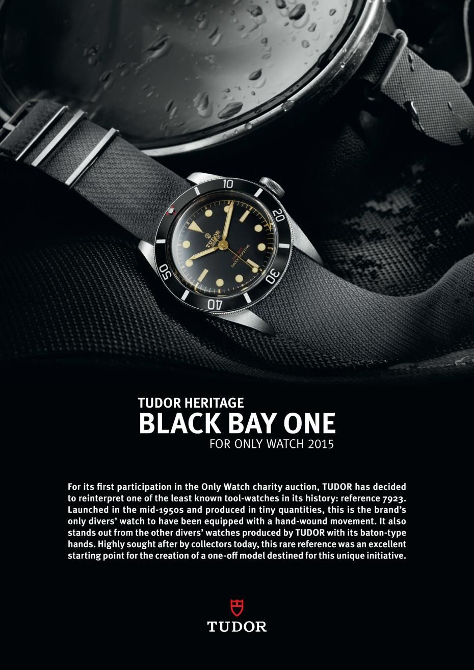 Tudor Heritage Black Bay One For Only Watch 2015 Tudor Heritage Black Bay Watches For Men Vintage Watches