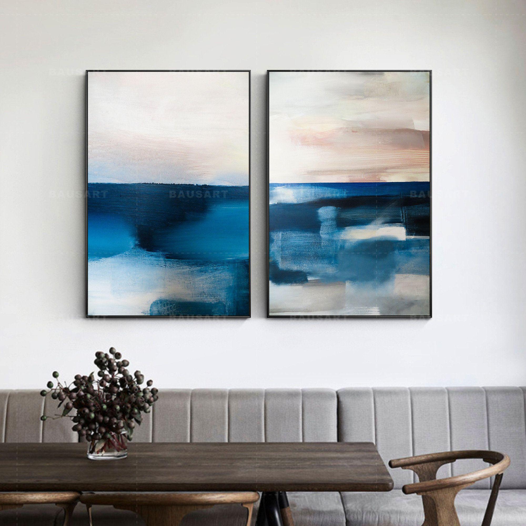 Large Framed Abstract Landscape Framed Abstract Art Print Etsy In 2021 Abstract Landscape Landscape Art Landscape Paintings