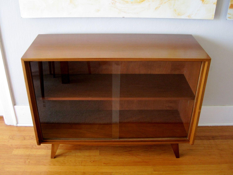 Walnut Mid Century Modern Cabinet Sideboard Media Console. $395.00, Via  Etsy.