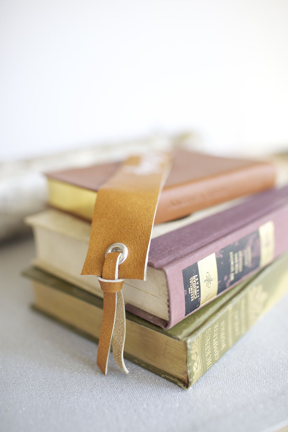 diy leather book markers place card holders personalized blog