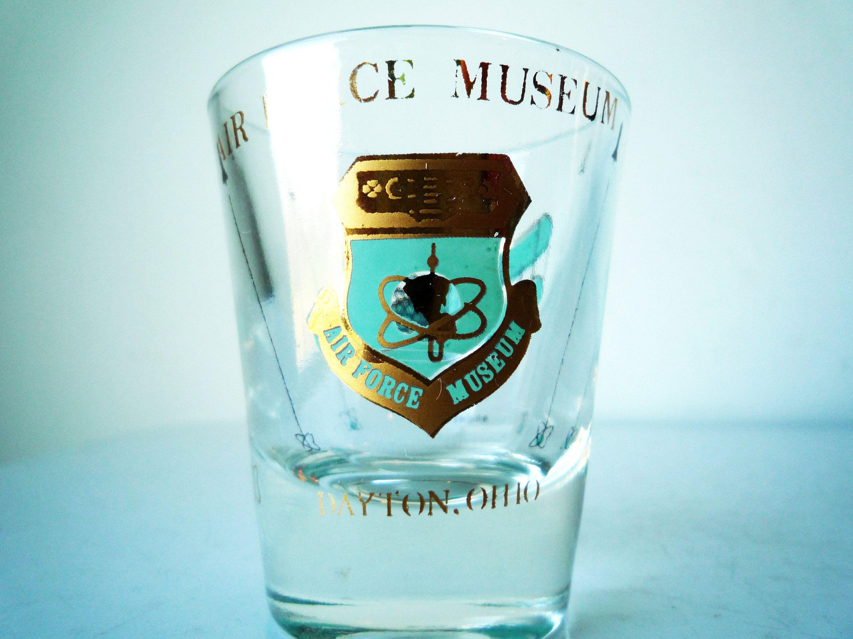 Vintage AIR FORCE Museum Shot Glass, Souvenir Shot Glass