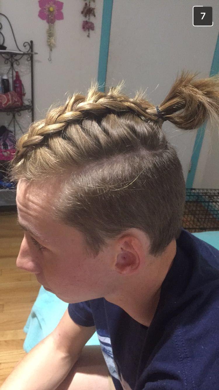 man bun. soccer. braid | hair in 2019 | hair styles, hair