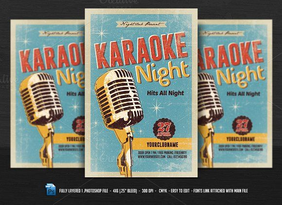 Karaoke Night Flyer  Karaoke And Fonts