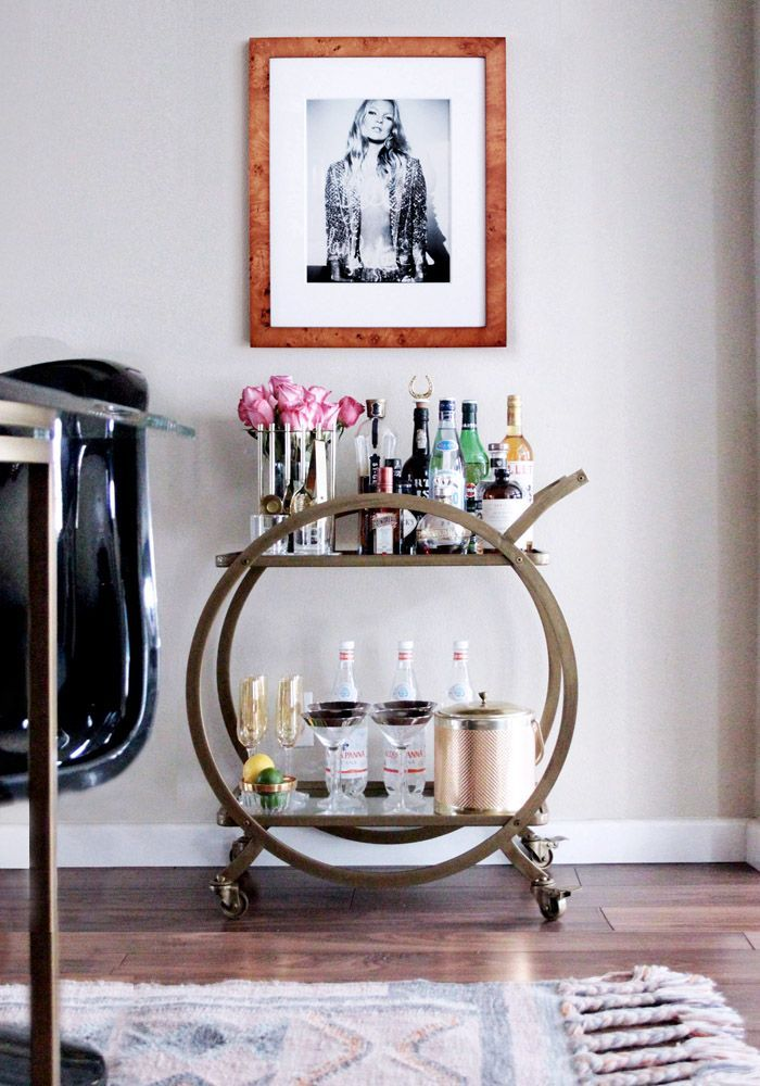 Bar Cart Stock Styling How To Br 1970s Kate Moss Black Panton Chair
