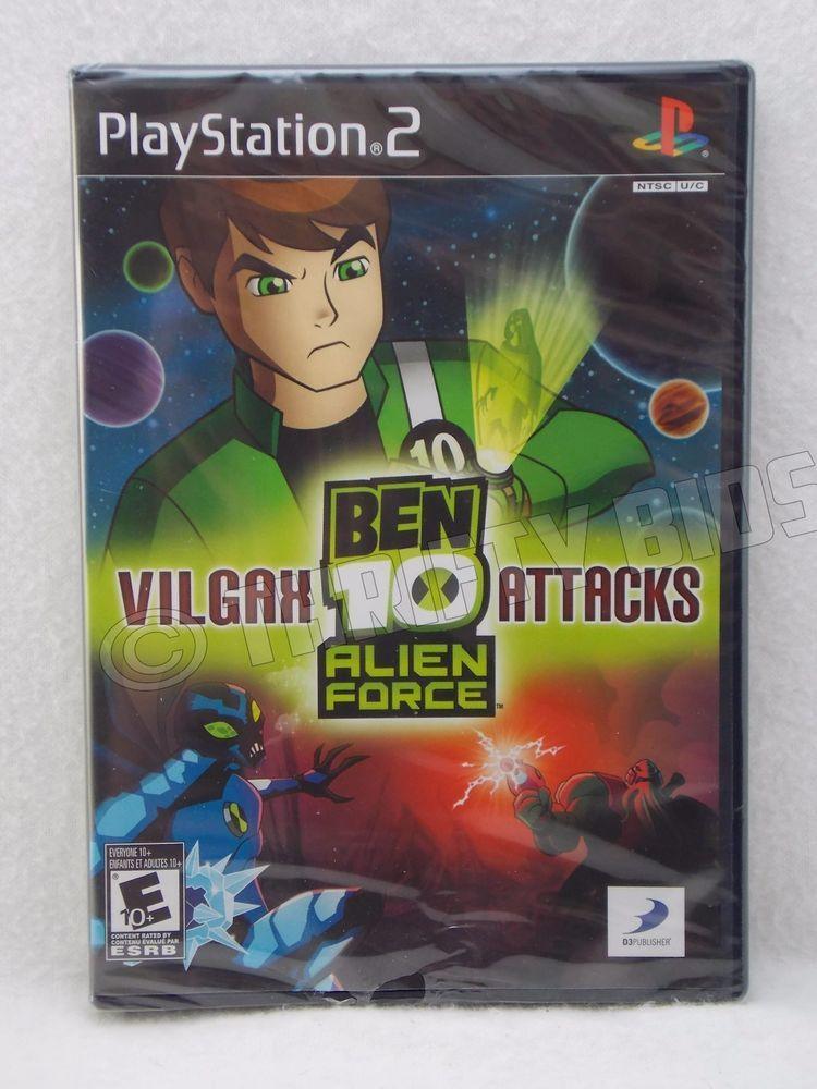 Ps2 Ben 10 Alien Force Vilgax Attacks Sony Playstation 2 2009 New