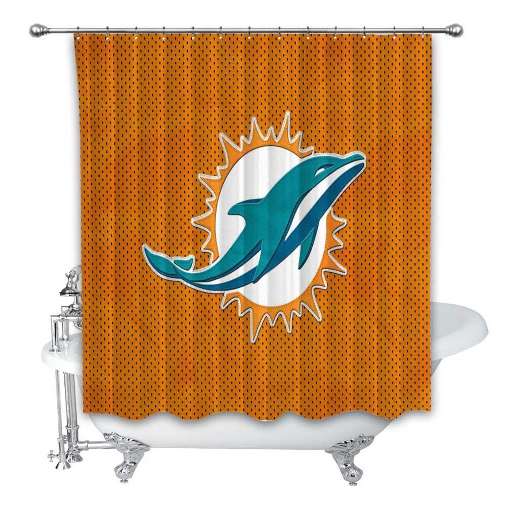 New Nfl Miami Dolphins Nfl Football Custom Shower Curtain 100