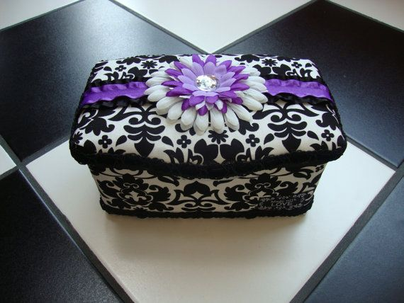 Boutique Diaper Wipes Tub Damask Black by somethinchicboutique, $15.00