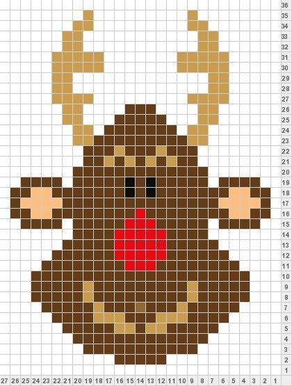 Knitting Charts Christmas : Xmas reindeer colorwork knitting patterns pinterest