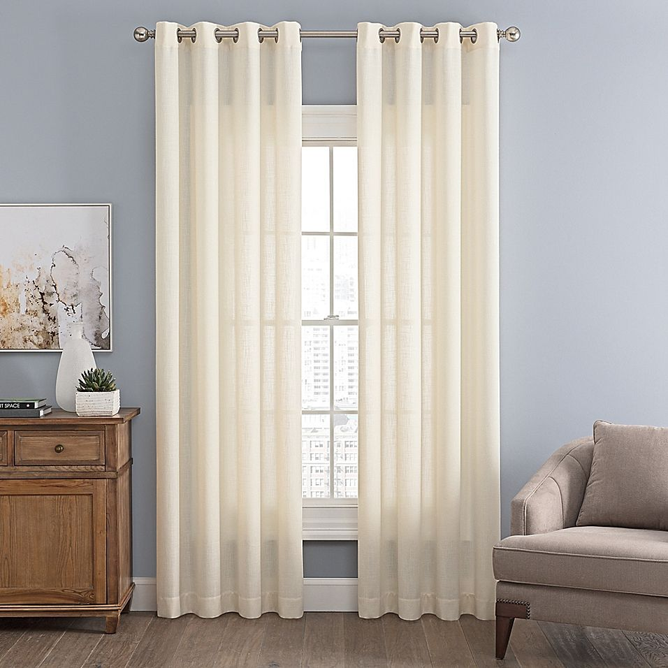 Messina Solid 95 Grommet Window Curtain Panel In Cream In 2020