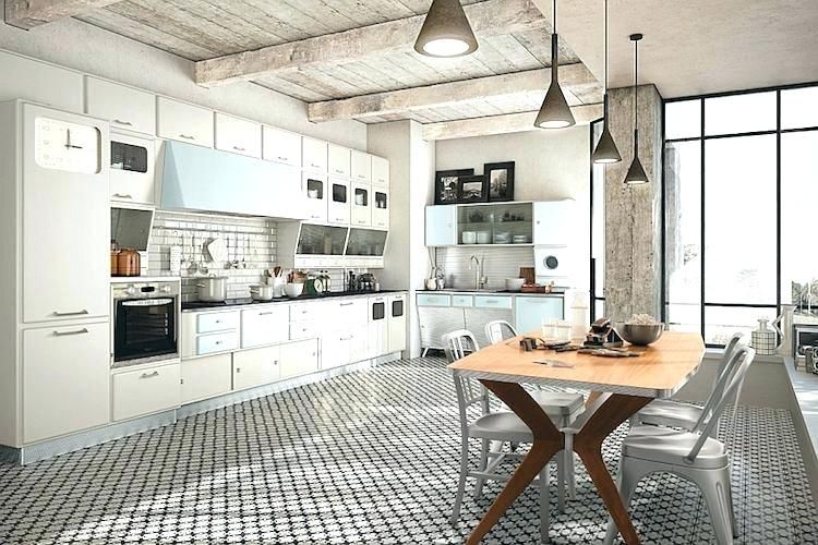 idee cuisine deco deco cuisine blanc et bois great la cuisine - Idee Deco Cuisine Vintage