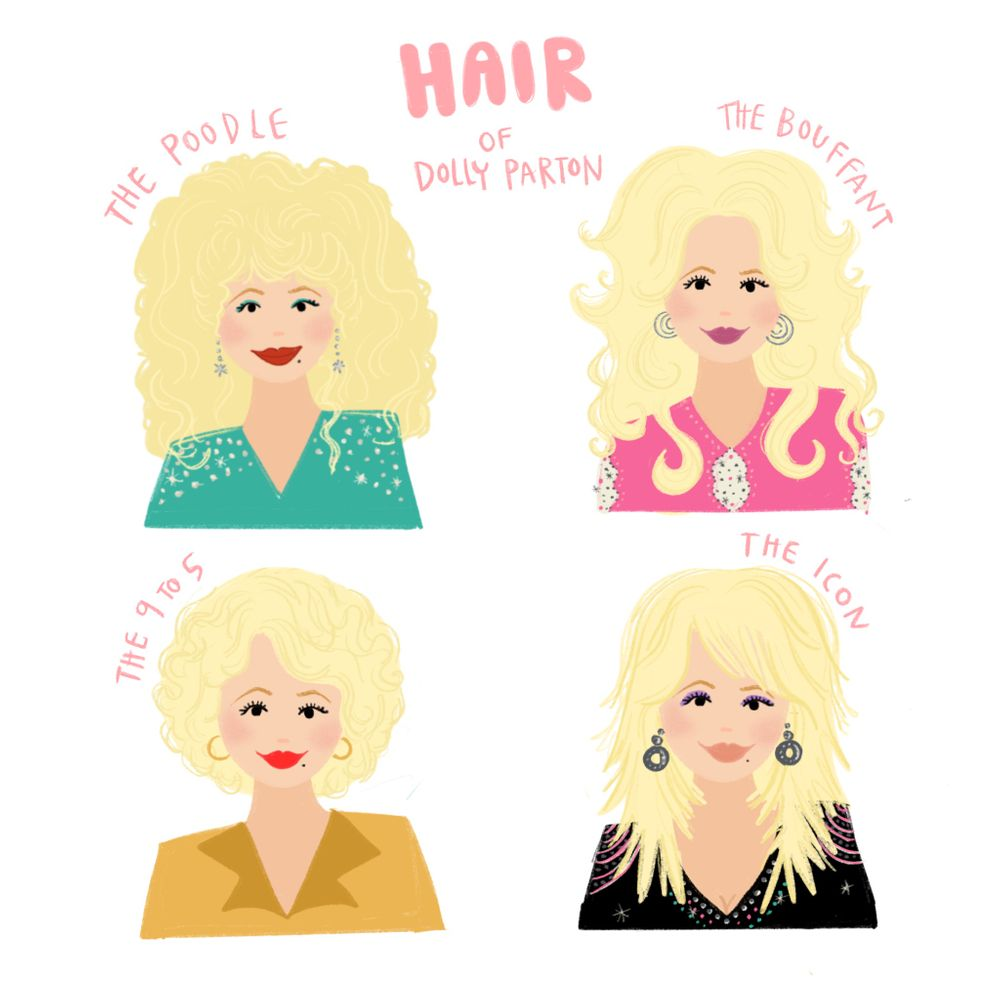 Hair of Dolly Parton Art Print by ptnelson - X-Small