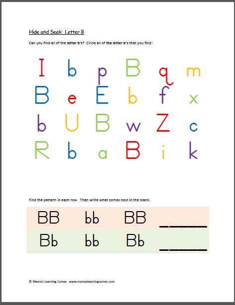 hide and seek letter b education is everything learning letters letter b lettering. Black Bedroom Furniture Sets. Home Design Ideas