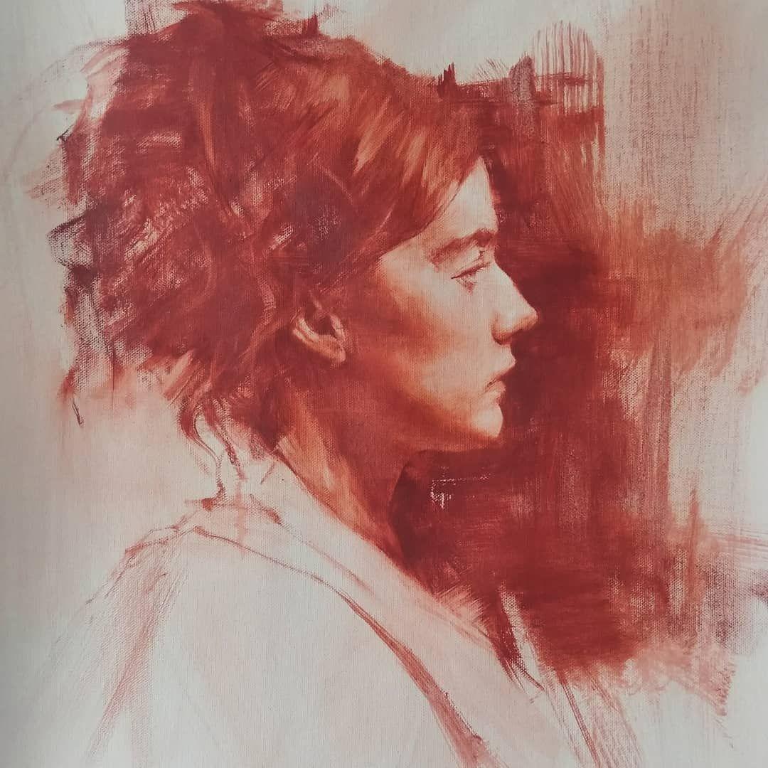 Oil Portrait Painting On Linen By Sookyi Lee S Izobrazheniyami Risovat Eskiz Kak Risovat