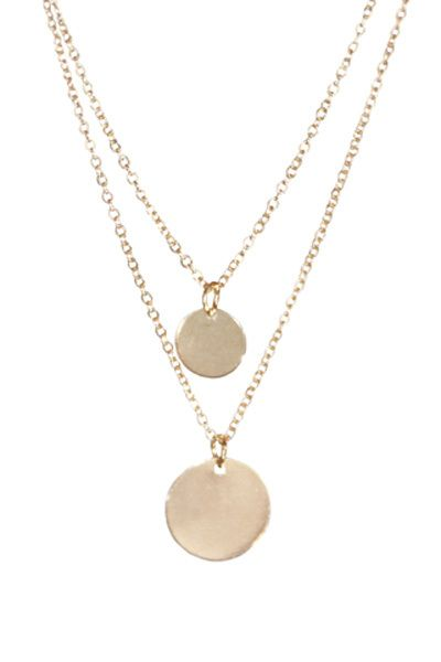 Double Layer Circle Necklace - Arrow Trends