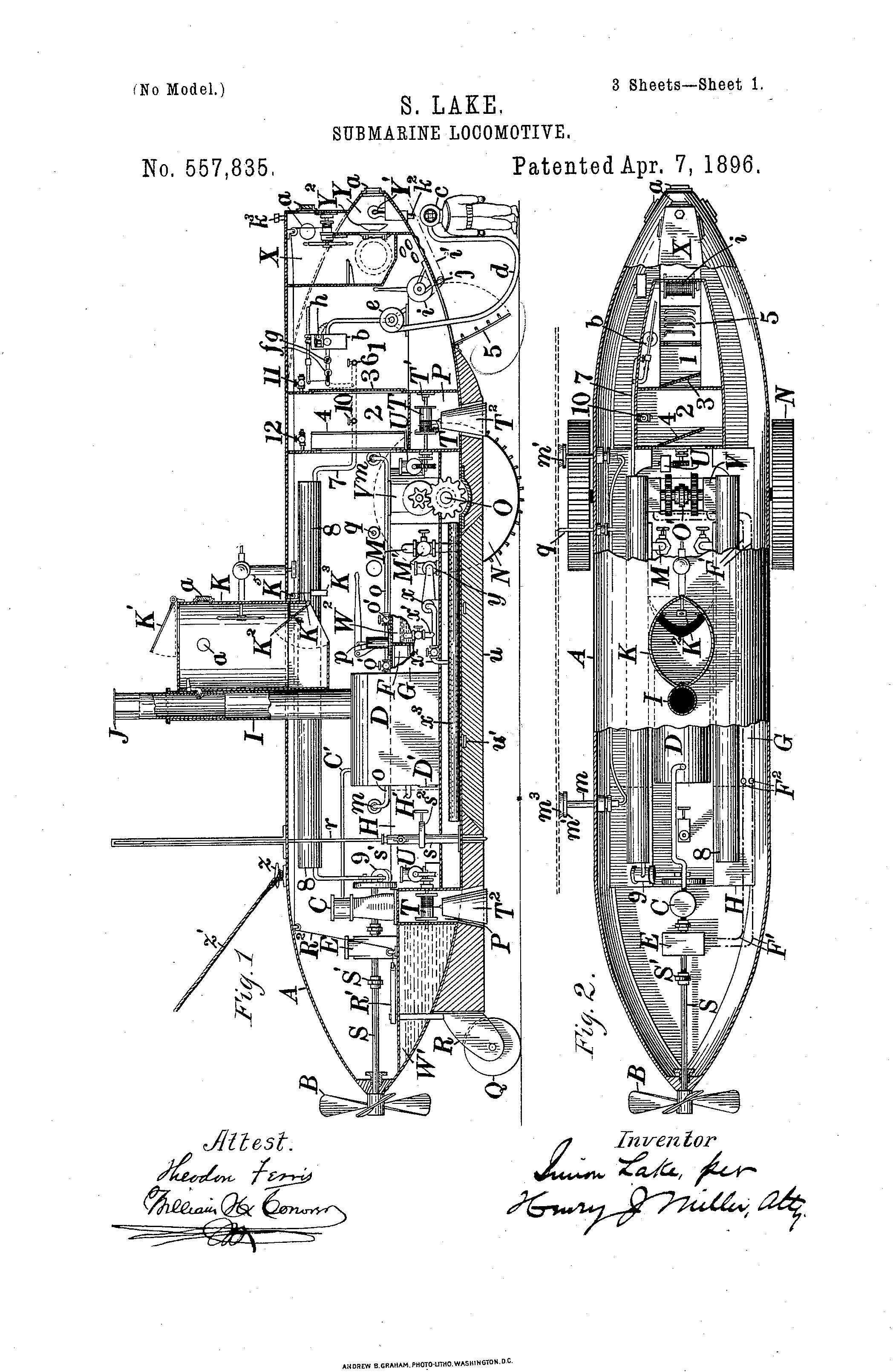 Submarine Locomotive Patented