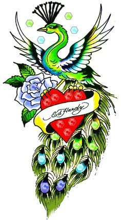 Ed hardy rose tattoo google search tattoo ideas in - Ed hardy lisa frank ...