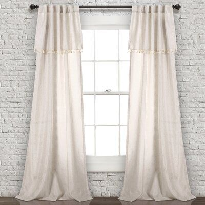 Modern Rustic Interiors Maxwell Solid Color Semi Sheer Rod Pocket