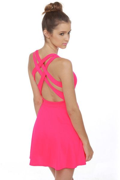 lulu's dresses pics | hot pink LuLus dress | Things to Wear ...