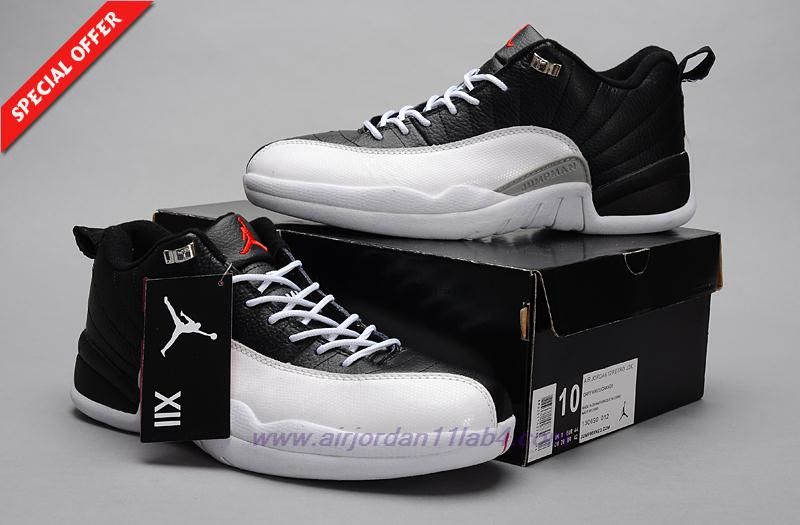 pretty nice 668a9 8b18f Discount Shoes Online PLAYOFF White Black AIR JORDAN 12 RETRO LOW