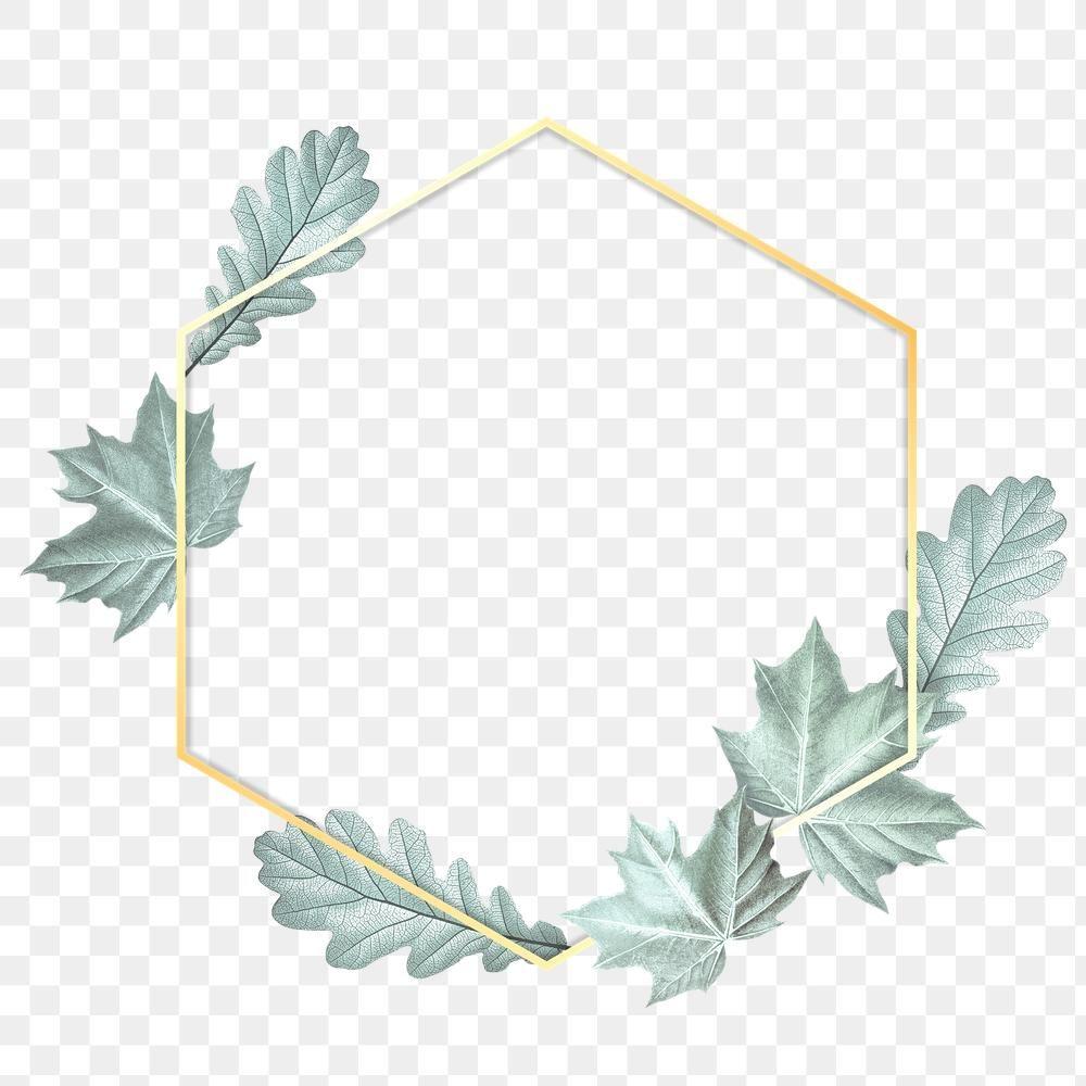 Download Premium Png Of Green Leaves With Rectangle Frame Design Element Frame Design Design Element Wedding Frames