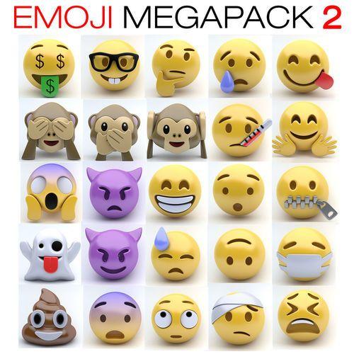 Emoji Pack 2 3d Model Emoji 3d Model Character 3d Model