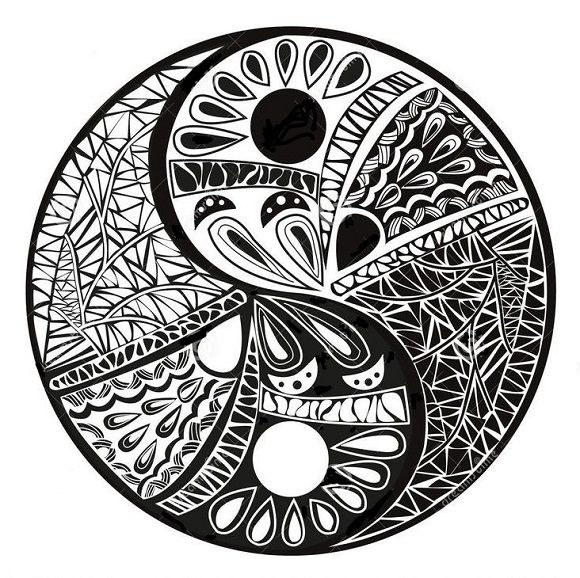 Yin Yang Tattoo Dark Skin: Pin By Karen Woods On Yin Yang