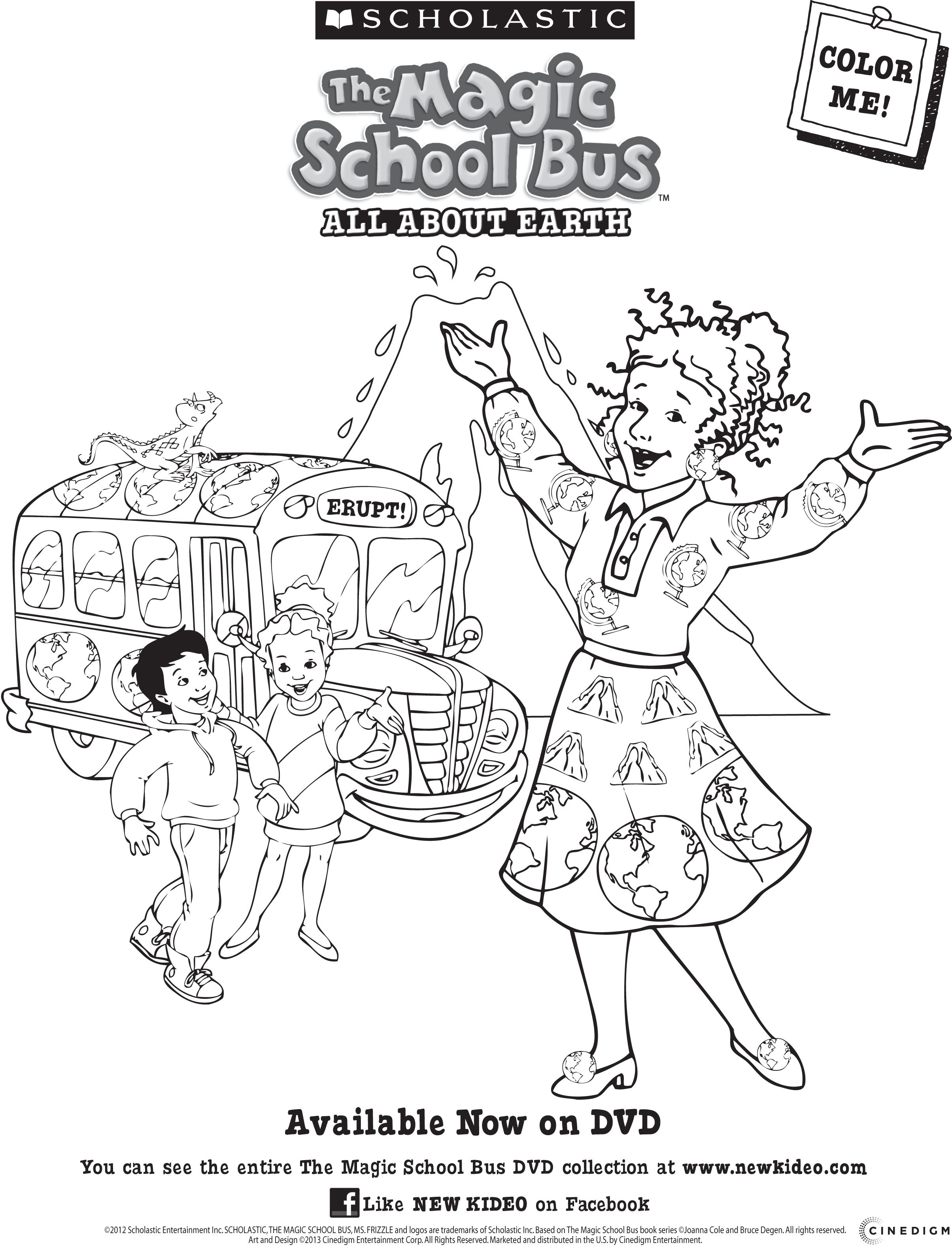 Magic School Bus All About The Earth Dvd Magic School Bus