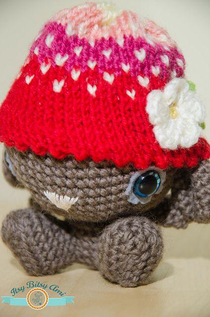 Lily, The Strawberry Bear Amigurumi  Crochet