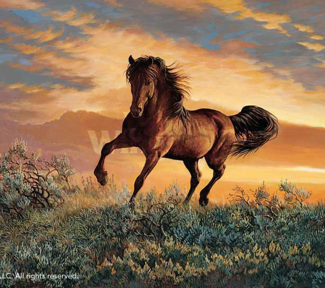 Mustang horse painting - photo#49