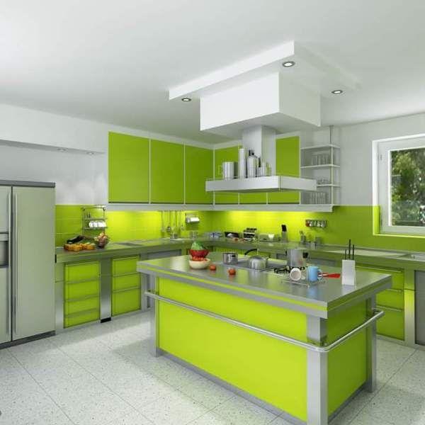 Kitchen Set Nuansa Hijau: Kitchen Sets Hijau Samarinda 001